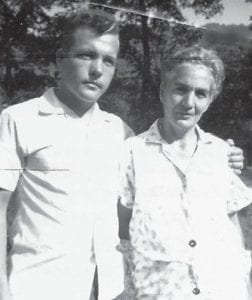 — Ealice Ray 'Elzie' Hatton is pictured with his mother, Norma Beatrice Hyden Hatton McCall, at Pine Creek in August 1964. She is also the mother of Joyce Morris.