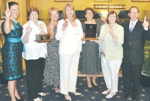 Pikeville Medical Center representatives in Washington when the award was announced included (from left) Pam May, Cheryl Hickman, Patty Thompson, Kathy Khoshreza, Dr. Mary Simpson, Sheila Belcher and Greg Donithan.