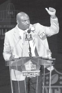 Former UK football great Dermontti Dawson was inducted into the NFL Hall of Fame Aug. 4. (AP)