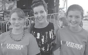Letcher County 4-H members Brooke Saurer and Carla Sturgill met Heather French Henry, Miss America 2000, while at a 4-H state competition. The girls had heard Henry speak at a Girl Scouts 100-year anniversary event in Washington, D.C. in June.