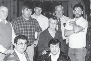 The late Cindy Howard is pictured with her seven sons, Hubert Howard, Hillard Howard, Bobby Ray Howard, the late Eddie Howard, Jack Howard, John Howard and Charles Howard. They were her pride and joy, says her daughter, Whitesburg correspondent Oma Hatton.