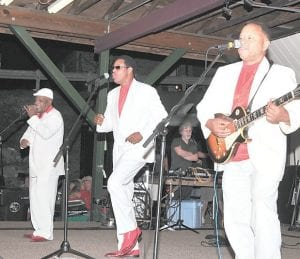 "HEADLINERS — Helping to attract one of the largest crowds in recent memory to the festival's Saturday night finale was an appearance by current touring edition of The Coasters, who had hits in the late Fifties and early Sixties with songs such as ""Poison Ivy,"" ""Yakety Yak,"" ""Searchin'"" and ""Charlie Brown."" The group's classic lineup are members of the second class to be inducted into the Rock and Roll Hall of Fame in 1987."