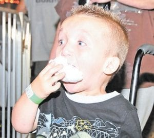 A handful of cotton candy was no match for six-yearold Ashton Sturgill.