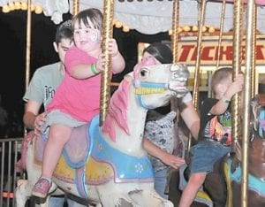 Jacie Adams enjoyed a turn on the carousel.