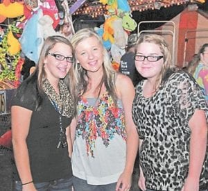 Festivals are a great place for friendship, and Isom Days 2012 was no different as Kalena Isom, Brooke Fields and Katherine Begley shared time together on the Isom Fairgrounds.