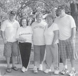Corina Bates of Ohio, recently visited with her brothers and sisters in Hazard. Pictured are (right to left) Elmer, Evalee, Lena, Carena and Thomas.