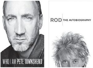 COMING THIS FALL — Among the new books scheduled for release this fall are autobiographies by rock stars Pete Townshend of The Who (left) and Rod Stewart.