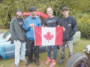 It took Will Wilcox, Geoff Fiander, Kaitlynn Adams and Justin Goodreau 14 hours to travel from Ontario, Canada to Whitesburg. They said they will be back for the annual car show next year with more people in tow.