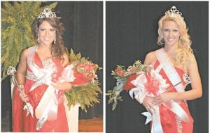 — Brittany Wright (left) and Lindsey Kincer (right) were chosen as Miss Teen Mountain Heritage and Miss Mountain Heritage respectively during a pageant held at Letcher County Central High School on September 15. The pageant won by Miss Wright was open to girls between 13 and 18, while Miss Kincer was chosen from a group of women whose ages ranged from 18 to 25. Events scheduled for the 30th edition of The Mountain Heritage Festival will continue through September 29. (Photos by Tonya Aslinger)