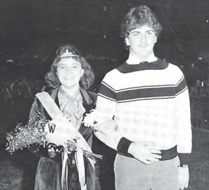 Homecoming Queen Kaye Day and her escort Randy Ingram