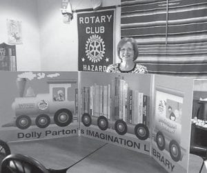 — Whitesburg Rotary Past President Margaret Hammonds was the guest speaker at the Rotary Club of Hazard on Sept. 12. She spoke about the Dolly Parton Imagination Library, an early childhood literacy program which the Whitesburg Rotary implemented in January. The Hazard club plans to start the program in its area by spring. Hammonds was instrumental in bringing the program to Whitesburg during her tenure as Rotary president, and is the coordinator between the club and the Dollywood Foundation. The Imagination Library gives a book a month to children under five years of age who live in Whitesburg. To download an application, visit www.clubrunner.ca/whitesburg-ky/. There are 143 children registered in the program in Whitesburg.