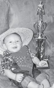 Four-month-old Braylen Liam Whitaker was first runner up in the Little Mr. Neon pageant. He is the son of Junie and Shequeenia Whitaker of Neon. His grandparents are Frona and Gary Moore of Neon, Teresa and Nelson Hopkins of Whitesburg, and Tammy and Johnny Whitaker of Hindman.