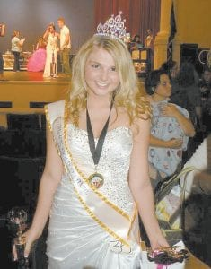 Ashley Shae Benton (left), daughter of Katina and Tony Benton of Whitesburg, was recently crowned the 2012 Miss Teen Black Gold Festival Mini Supreme winner. She is the granddaughter of Coolie and Janice Baker of Isom and Doug and Janie Benton of Sandlick.