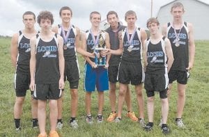 The LCCHS boys' varsity team was also caught on camera after The Beast of the East cross country competition at Owsley County High School. Members of the meet-winning team are (from left) Trevor Napier, Judson Collins, Austin Bolling, Chase Cates, Dylan Burton, Nick Boggs, Trevor Wayne and Anthony Collins