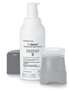 Axiron, an underarm gel that rolls on like deodorant, is one drug used by men struggling with symptoms of growing older associated with low testosterone. (AP Photo/Eli Lilly & Co.)
