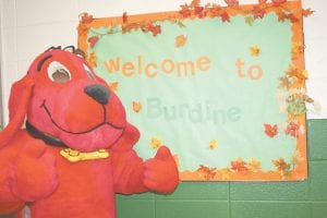 Jenkins Independent School, Burdine Campus, recently celebrated a very special day — the 50th birthday of Clifford the Big Red Dog. Clifford visited each classroom and brought smiles to many faces.