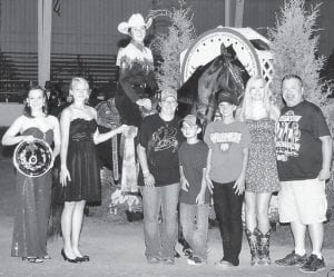 Tara Chadwell and Project Runway won a blue ribbon in Country Pleasure, amateur and youth novice, and Reserve World Champion Juvenile Country Pleasure at the World Celebration in Decatur, Ala. She is a sophomore at Letcher County Central High School, and Caudill Stables of Jeremiah is among her supporters. She is the granddaughter of Eva Chadwell of Isom, and her mother is an employee of the John B. Adams Store in Isom.
