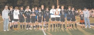 REGIONAL RUNNERS-UP — The Letcher Central Cougars boys' soccer team lost to Perry Central last week 1-0 and brought home the 14th Region Second Place trophy. Pictured left to right are assistant coach Austin Sizemore, James Craft, Cameron Hampton, Caden Fugate, Jordan Morrow, Casey Stines, Nick Madden, Ethan Raleigh, Jack Madden, Sam Robinson, Antonio Acevedo, Zach Joseph, Izak Dyal, Joel Murtaugh, Simon Robinson, Matthew Fields, Javier Polly, and head coach Joe