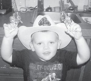THREE YEARS OLD — Gavin Kendrick Lee Eldridge turned three years old on Oct. 22. He is the son of Ashley and Justin Eldridge of Mayking. He celebrated his birthday with a Halloween party with friends and family at the Mayking Fire Department.
