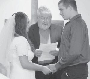NEWLYWEDS — Ashley and Casey Sturgill exchanged wedding vows October 20 at the ECCO chapel.