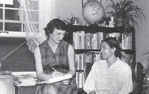 Anne Braden (left) was photographed interviewing civil rights pioneer Rosa Parks earlier in her career. An Appalshop documentary about Braden's life will air on KET's digital channel four times later this week.