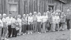— Visiting Loretta Lynn's homeplace at Butcher Hollow in Johnson County were Ermine Center seniors Vivian Spangler, Lydia Hall, Doug Wright, Debbie Spangler, Doris Bentley, Ruth Gibson, Vina Lucas, Nell Vance, Herman Webb (Loretta Lynn's brother), Carl Parrott, Maxine Quillen, Marie Pendleton, Fay Slone, Coleen Hart, Lizzie M. Wright, Pat Wright, Laken Baker, Janice Foster, Stoney Lucas, Elisha Baker, Rhuford Hart, Vickie Collins and Estill Taylor.