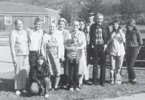 Pictured is the family of the late Gid and Lora Brown, formerly of Marlowe.