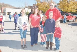 — David and Shannon Bates of Colson attended a Veterans Day event on November 9 at the Letcher County Veterans Memorial Museum in Whitesburg with their children, Kayleigh, Abigail, Alex and Jonathan. This was the first Veterans Day event they had attended at the facility. (Photo by Sally Barto)