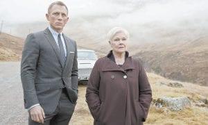 "Daniel Craig as James Bond, left, and Judi Dench as MI6 head M, in a scene from the film ""Skyfall."" (AP Photo/Sony)"