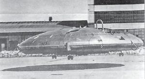 This Canadian aircraft, the Avrocar, has often been mistaken for a UFO. (U.S. Air Force photo)