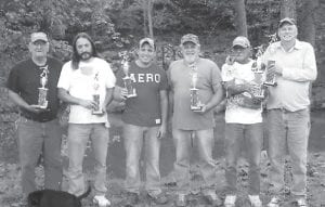 — Harvey Fox and Razor Duncan were the first-place finishers in the Mountain Heritage horseshoe tournament. Coming in second were Jesse Fulton and Neil Fulton, and in third place were Lonnie Baker and Jimmy Fox. Pictured are (above right to left) Razor Duncan, Harvey Fox, Jesse Fulton, Neil Fulton, Jimmy Fox and Lonnie Baker.