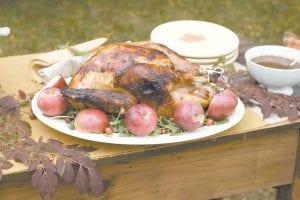 Cider brined turkey and sage gravy are shown. (AP photo)