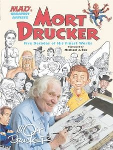"""This book cover image released by Running Press shows """"Mort Drucker: Five Decades of his Finest Works."""" The book is a collection of movie and TV satire plucked in comic-strip format from the pages of the magazine. George Lucas and Steven Spielberg, who were among Drucker's targets, wrote notes of appreciation.( AP Photo/Running Press)"""