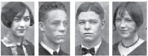 Pictured left to right are: PANSY WEBB, ZENNETH BENTLEY, HOBART COMBS and HAZEL BACK.