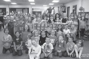 The West Whitesburg Elementary School Bible Club collected 40 gift-filled shoeboxes for Operation Christmas Child. Shoeboxes are delivered to needy children worldwide through Operation Christmas Child, a project of Samaritan's Purse headed by Franklin Graham.