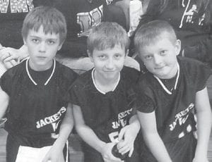 Pictured are three Whitesburg Middle School basketball players. From left to right are Creed Warf, Parker Williams and Zack Hensley.