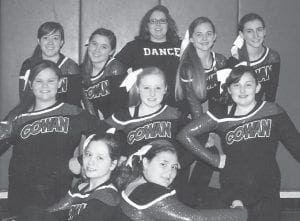 The Cowan Elementary School Dance Team will perform at the Atlanta Hawks NBA game versus the Brooklyn Nets on March 9. The students will travel to Atlanta for a few days in March to learn a dance with the Atlanta Hawks cheerleaders that will be performed the night of the game. Pictured (front row, left to right) are Jamie Craft, Becky Eldridge, (middle row) Abby Meade, Marah Boggs, Laken Caudill, (back row) Haleigh Howard, Micah Williams, coach Tabitha Craft, Emily Ison and Ashley Brown.