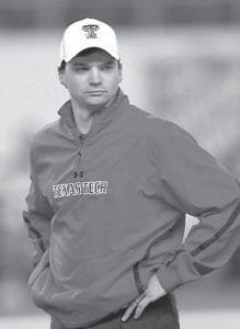 New Kentucky offensive coordinator Neal Brown, a former player at UK, helped Texas Tech's offense rank in the top 15 nationally during his three seasons there. (Photo courtesy Texas Tech University)
