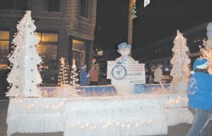 The Whitesburg Women's Center, which opened in September on the campus of the Whitesburg Appalachian Regional Hospital, won second place in the best float category with this entry. A separate entry from Whitesburg ARH's Jenkins clinic won first place.