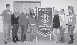 The new officers of the Interact Club of Jenkins High School are President Kevin Brashear, Vice President Sarah Gilley, Director Tiffany Ramey, Director Talena Stanley, Secretary Michaela Hardin, Director Arissa Vanover and Treasurer Kelly Adams. Interact is a service club for high school students sponsored by Rotary Club. Members must do a community service project and an international service project each year. There are more than 13,500 clubs in 138 countries with almost 200,000 students involved. Interact was started in 1962 and is celebrating its 50th anniversary this year. The JHS Interact Club is sponsored by the Rotary Club of Whitesburg.