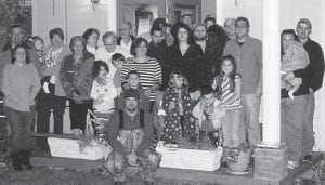 — Pictured is the family of Dorthy Tacket and late Marshall Tacket, grandchildren Joy Hampton, Blake Mason, Lidia Graves, Kenneth Holbrook, A.J. Tacket, Karen Graves and Steven Holbrook; great-grandchildren Story Hampton, Chesne Mason, Luke Holbrook, Drew Hampton and Seth Hampton; Blake Mason's stepson Tucker; Lynn and Lauren Holbrook and Ava Barger.