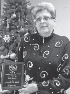 Alice Bentley, who works at the Ermine Senior Citizens Center, was named the Title V Enrollee of the Year by the Kentucky River Area Development District.