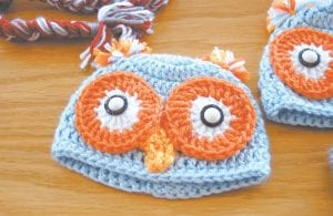 Alice Craft said crocheted owl hats have been among of her most popular items for sale this year.