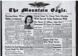 When it comes to the coal industry and our economy, Letcher County residents shared many of the same fears 55 years ago that they do today. The story below appeared on the front of the January 2, 1958 edition under the headline 'Outlook for Coal Mining Termed Rough for 1958.'