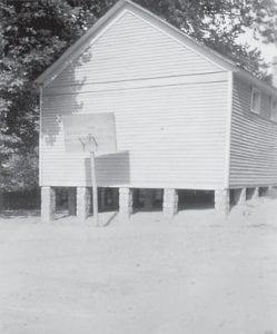 The Blair Branch Grade School was built near the community of Jeremiah in Letcher County by the Works Progress Administration (WPA) in 1936. (Photo courtesy Goodman-Paxton Photographic Collection/UK Library)