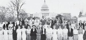 1987 SENIOR TRIP — Back row (left to right) are Marcella Collins, Jay Ramsey, Melanie Cooper, Joe Adams, Tammie Sparks, David Cornett, Steve Cook, Kevin Garrett, Mrs. Horn, Mr. Horn, Miss Evans, Mrs. Bowen, tour guide, Clyde Trent, Billy Taylor, Kyle Bowen, Paul Boggs, Gerard Collins, Mike Wilcox, and Danny Cassidy. Front row (left to right) are Stefani Mullins, Kristie Roark, Donna Profitt, Tiffanie Combs, Kristi Hall, Tammy Maxey, Ricky Seals, Lisa Shepherd, Beverly Bates, Connie Brown, Robbie Back, Michelle Taylor, Ronald Morgan, Lena Caudill, Beth Richardson, Melissa Corder, Greg Bowen and Sherie Damron.