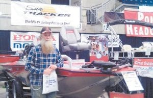 """Fishing columnist Greg """"Gabby"""" Caudill visited the WYMT-TV Boat and RV Show at the Expo Center in Pikeville over the weekend."""