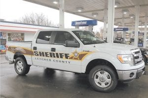 — This Letcher County Sheriff 's truck, a 2013 Ford F-150 pickup truck, was purchased after the sheriff 's department received a $23,500 grant from the U.S. Department of Agriculture's Rural Development Agency on February 5. The grant covered 75% of the total vehicle cost, leaving $8,937.33 to be paid by the Sheriff 's Department. Sheriff Danny Webb said U.S.D.A Rural Development Agent Greg Pridemore played a major role in helping secure the grant for the truck purchase.
