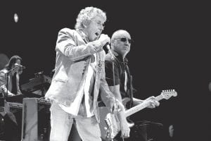"""Singer Roger Daltrey and guitarist/songwriter Pete Townshend have proved they can still """"bring it"""" in The Who's current """"Quadrophenia and More"""" tour. (AP)"""