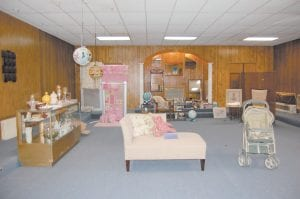 The building's upstairs is occupied by the furniture and household section, a popular new addition to the consignment shop located at Pine Mountain Junction.